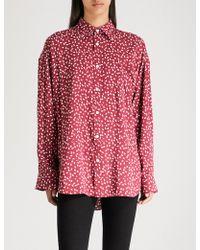 Balenciaga - Masculin Printed Cotton-poplin Shirt - Lyst