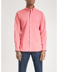 Polo Ralph Lauren - Logo-embroidered Slim-fit Cotton-poplin Shirt - Lyst
