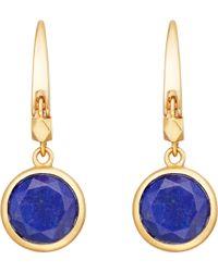 Astley Clarke - Stilla 18ct Gold-plated Lapis Lazuli Earrings - Lyst