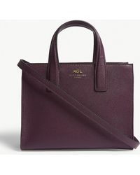 Kurt Geiger - Dark Purple Practical Saffiano Leather Tote Bag - Lyst
