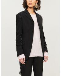 Ann Demeulemeester - Raw-trim Cashmere And Silk-blend Jumper - Lyst