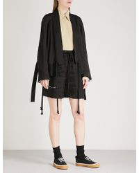 Song For The Mute - Wander Satin Bomber Jacket - Lyst