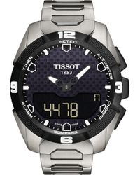 Tissot - Mens T Touch Solar Chronograph Watch - Lyst