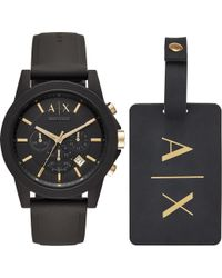 Armani Exchange - Ax7105 Outerbanks Watch And Luggage Tag Set - Lyst