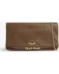 Zadig & Voltaire - Leather Bubble Fold-out Clutch - Lyst