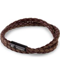 Tateossian - Chelsea Double-wrap Braided Bracelet - Lyst