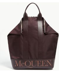 Alexander McQueen - De Manta Leather And Shell Backpack - Lyst