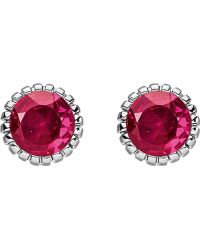 Thomas Sabo - Glam & Soul Red Stone Sterling Silver Ear Studs - Lyst
