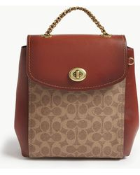 COACH - Parker Convertible Backpack In Signature Canvas - Lyst