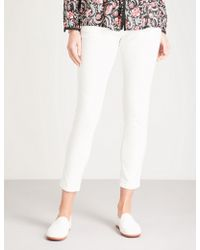 Ba&sh - Chia Skinny Cropped Mid-rise Stretch-cotton Trousers - Lyst