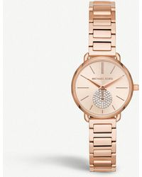 Michael Kors - Mk3839 Portia Rose Gold-toned Stainless Steel Watch - Lyst