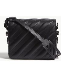 Off-White c/o Virgil Abloh - Quilted Binder Clip Leather Shoulder Bag - Lyst