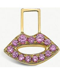 The Alkemistry - Robinson Pelham 14ct Yellow Gold And Pink Sapphire Lips Ear Wish - Lyst