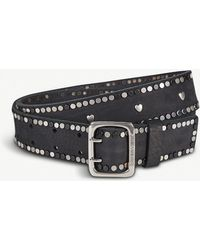 Zadig & Voltaire - Starlight Studded Leather Belt - Lyst