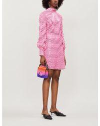 Olivia Rubin - Melissa Polka Dot-pattern Sequinned Mini Dress - Lyst