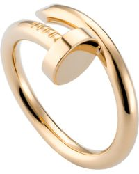 Cartier - Juste Un Clou 18ct Yellow-gold Ring - Lyst
