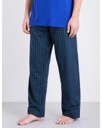 Derek Rose - Naturally Checked Woven-cotton Pyjama Bottoms - Lyst