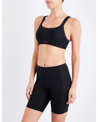 Panache - Non-wired Mesh And Jersey Sports Bra - Lyst