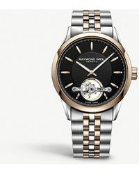 Raymond Weil - 2780-sp5-20001 Calibre Rw1212 Rose Gold-plated Stainless Steel Watch - Lyst