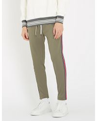 Replay - Side Stripe Stretch-jersey jogging Bottoms - Lyst