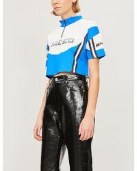 Jaded London - Logo-print Stretch-jersey Cycling Top - Lyst
