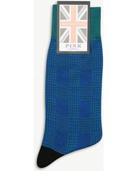 Thomas Pink - Ulffson Dogtooth Cotton-blend Socks - Lyst