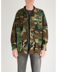 HTC Hollywood Trading Company - Wings Camouflage Cotton-drill Jacket - Lyst