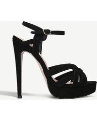 Miss Kg - Samia Suedette Platform Heel Sandals - Lyst