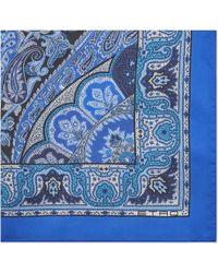 Etro - Paisley Silk Pocket Square - Lyst