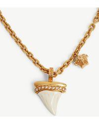 Versace - Shark Tooth Chain Necklace - Lyst