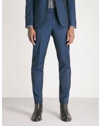 The Kooples - Tapered Wool Trousers - Lyst