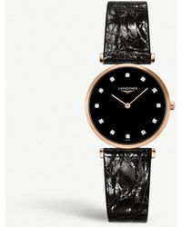 Longines - L4.512.1.57.2 La Grande Classique De Rose Gold-plated And Diamond Watch - Lyst