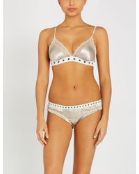 Love Stories - Love Lace Satin And Lace Bralette - Lyst