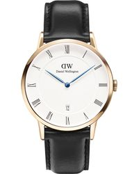 Daniel Wellington - 1101dw Dapper Sheffield Rose Gold-plated And Leather Watch - Lyst