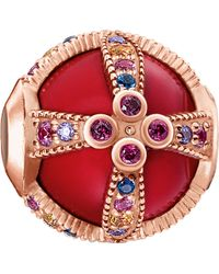 Thomas Sabo - Royalty Red Rose-gold Karma Bead - Lyst