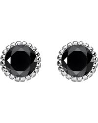 Thomas Sabo - Glam & Soul Black Stone Sterling Silver Ear Studs - Lyst