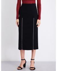 Maje | Jona Crepe Midi Skirt | Lyst