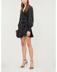 Zimmermann - Belted Silk Wrap Mini Dress - Lyst