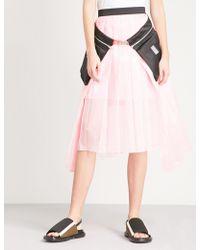 Fyodor Golan - Pocket-detail Pleated High-rise Chiffon Skirt - Lyst