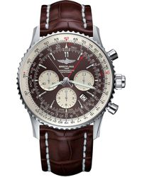 Rado - Ab031021/q615/756p Navitimer Rattrapante Stainless Steel And Leather Chronograph Watch - Lyst