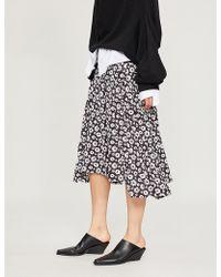 Comme des Garçons - Floral-print Crepe Skirt - Lyst