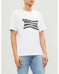 Calvin Klein - American Flag-print Cotton-jersey T-shirt - Lyst
