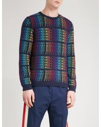 Gucci Hollywood Knitted Wool Jumper - Blue