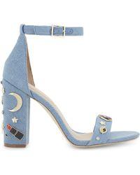 ALDO | Larelle Denim Heeled Sandals | Lyst