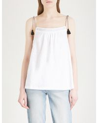 The White Company - Rope Strap Tassel Tie Cotton Top - Lyst