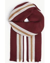 Johnstons - University Stripe Merino Wool Scarf - Lyst
