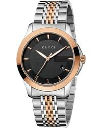 aa5dd3dfa60 Gucci - Ya126410 G-timeless Collection Stainless Steel And Pink-gold Pvd  Watch -