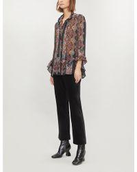 Etro - Paisley Ruffle-trimmed Chiffon Shirt - Lyst