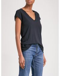 James Perse - V-neck Cotton-jersey T-shirt - Lyst