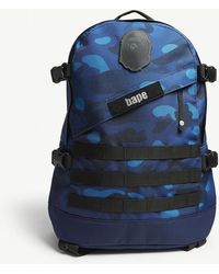 A Bathing Ape - Graduation Camouflage Canvas Backpack - Lyst